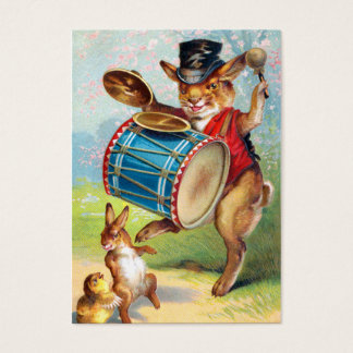 Clapsaddle: Drumming Rabbit Business Card
