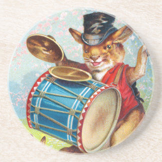 Clapsaddle: Drumming Rabbit Drink Coaster