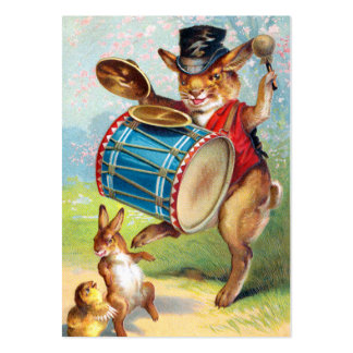 Clapsaddle: Drumming Rabbit Large Business Card
