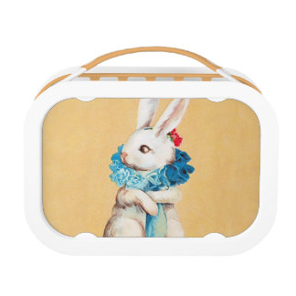 Clapsaddle: Easter Bunny Girl with Ruff Lunch Box