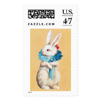 Clapsaddle: Easter Bunny Girl with Ruff Postage