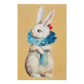 Clapsaddle: Easter Bunny Girl with Ruff Posters