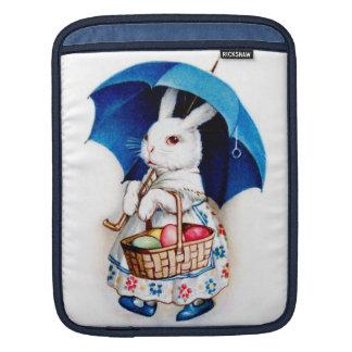 Clapsaddle: Easter Bunny Girl with Umbrella iPad Sleeve