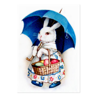 Clapsaddle: Easter Bunny Girl with Umbrella Large Business Card