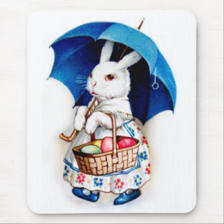 Clapsaddle: Easter Bunny Girl with Umbrella Mouse Pad