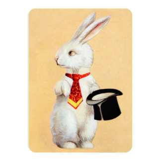 Clapsaddle: Easter Bunny with Tie Custom Invite