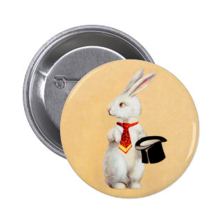 Clapsaddle: Easter Bunny with Tie Pinback Button