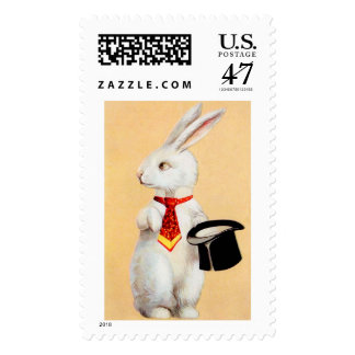 Clapsaddle: Easter Bunny with Tie Postage