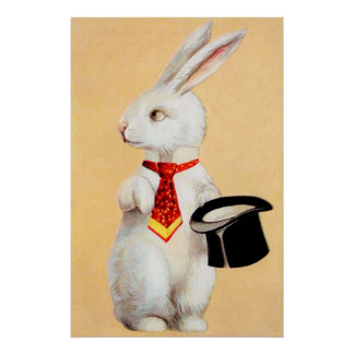 Clapsaddle: Easter Bunny with Tie Poster