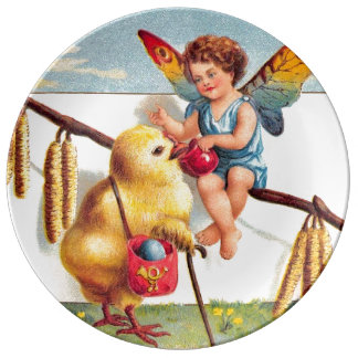 Clapsaddle: Easter Fairy with Chicken Dinner Plate