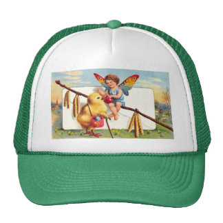 Clapsaddle: Easter Fairy with Chicken Trucker Hat