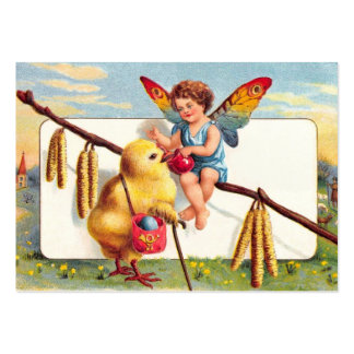 Clapsaddle: Easter Fairy with Chicken Large Business Card