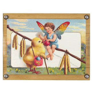 Clapsaddle: Easter Fairy with Chicken Rectangular Cheese Board