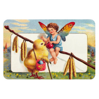 Clapsaddle: Easter Fairy with Chicken Rectangular Photo Magnet