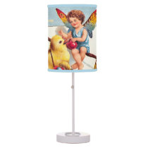 Clapsaddle: Easter Fairy with Chicken Table Lamp