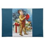 Clapsaddle: El hacer compras del navidad Manteles Individuales