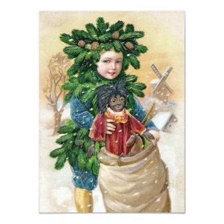 Clapsaddle: Fir Boy with Doll Custom Invitations