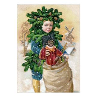 Clapsaddle: Fir Boy with Doll Large Business Card