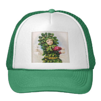 Clapsaddle: Fir Boy with Snowball Trucker Hat