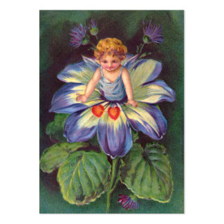 Clapsaddle: Flower Cherub Aster Large Business Card