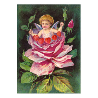 Clapsaddle: Flower Cherub Rose Large Business Card