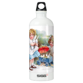 Clapsaddle: Girls Playing with Bunnies SIGG Traveler 1.0L Water Bottle