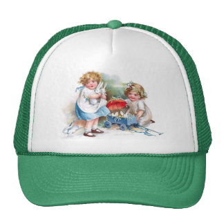 Clapsaddle: Girls Playing with Bunnies Trucker Hat
