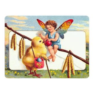 """Clapsaddle: Hada de Pascua con el pollo Invitación 6.5"""" X 8.75"""""""