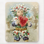Clapsaddle: Holly Boy with Heart Mousepad