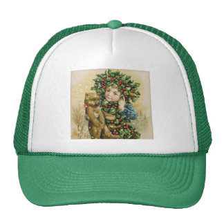Clapsaddle: Holly Boy with Teddy Trucker Hat