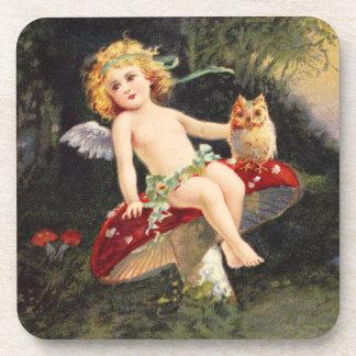 Clapsaddle Little Cherub on Mushroom Coaster