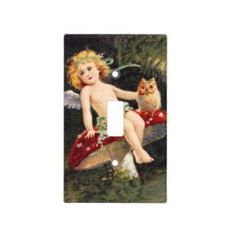 Clapsaddle: Little Cherub on Mushroom Light Switch Covers