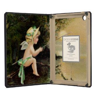 Clapsaddle: Little Cherub with Fishing Rod iPad Mini Retina Cover