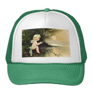 Clapsaddle: Little Cherub with Fishing Rod Trucker Hat