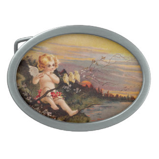 Clapsaddle Little Cherub with Flute and Birds Belt Buckles