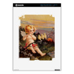 Clapsaddle: Little Cherub with Flute and Birds iPad 3 Decal