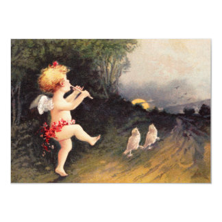 Clapsaddle: Little Cherub with Flute Card