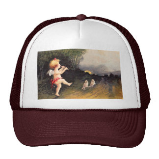 Clapsaddle: Little Cherub with Flute Trucker Hat