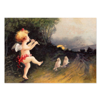 Clapsaddle: Little Cherub with Flute Large Business Card