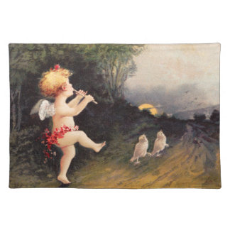 Clapsaddle: Little Cherub with Flute Placemats