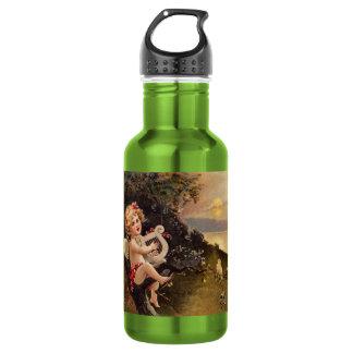 Clapsaddle: Little Cherub with Harp 18oz Water Bottle