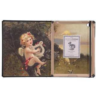 Clapsaddle Little Cherub with Harp Cases For iPad