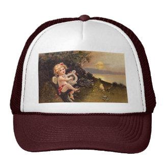 Clapsaddle: Little Cherub with Harp Trucker Hat