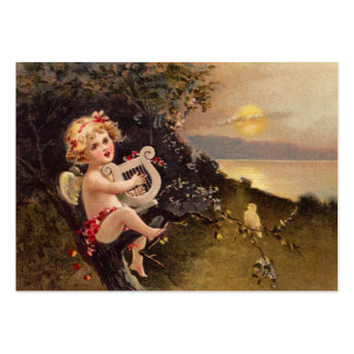 Clapsaddle: Little Cherub with Harp Large Business Card