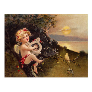 Clapsaddle: Little Cherub with Harp Postcard