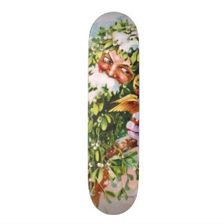 Clapsaddle Mistletoe Father with Angels Skateboard Decks