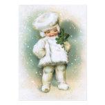 Clapsaddle: Muchacho del invierno con la ramita de Tarjeta De Visita