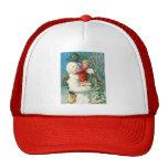 Clapsaddle: Muñeco de nieve con el chica del ángel Gorra