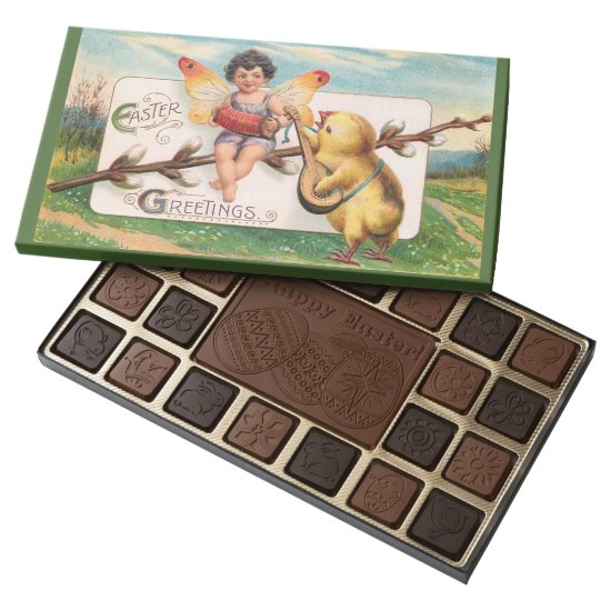 Clapsaddle: Music Making Easter Fairy 45 Piece Box Of Chocolates