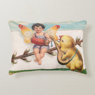 Clapsaddle: Music Making Easter Fairy Accent Pillow
